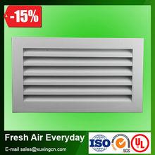 auminum 6063 aleación del sistema hvac de aluminio decorativas de la rejilla de ventilación