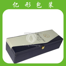 2015 hot sale gift pu Leather Wine Carrier Packing Box