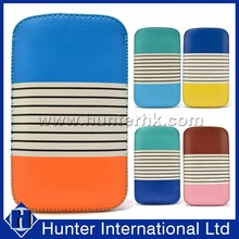 Novelty Soft Dual Color Pull Up Pouch For iPhone4G