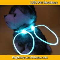 100pcs Wholesale 80cm LED Lighting Dog Necklace Safety 8 Color Light Collar DIY Sharp Flashing Wedding Party Pet Dress DP004
