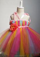 kids beautiful model rainbow color tutu dresses pretty flower girl lace tutu drss tutu grown