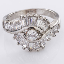 newest value metal gold plated 925 silver ring designs women 2012