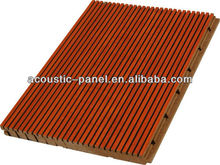 grooved acoustic panel soundproofing a room