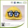 BSCI Audit yellow SpongeBob snapback acrylic baseball cap with solar fan
