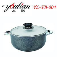 Aluminum new non-stick ceramic casserole sauce pot stock pot cookware for cooking soup with durable handle in jinhua