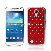 Luxury Chrome Case Studded with Beautiful Diamond case for Samsung Galaxy S4 Mini i9190