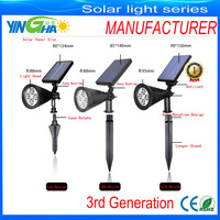 Third generation (3rd ) 200LM solar led spot light for outdoor/garden/wall