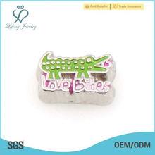 China factory price zinc alloy floating enamel animal locket charms jewelry wholesale