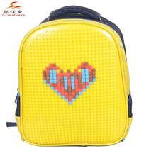 Venta al por mayor orden de la mezcla DIY bolsos de escuela imagen mochila rompecabezas 2015 nueva taleguilla para los niños
