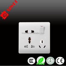 1gang 1way with 8pin wall electric switch and socket antique