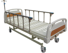 Three Cranks Hospital Patient Bed with ABS Side Rail and Silent Braking Castor