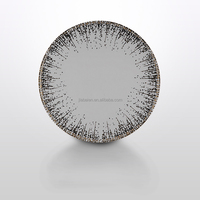 A055 high quality and new design luxury ceramic dinner plate for hotel