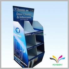 2015 new design fashion custom floor retail store cosmetic pop up cardboard display stand