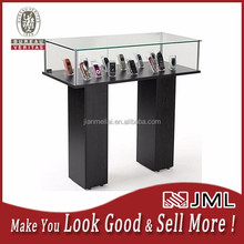 Factory Price Semi-Gloss Silver Jewelry Display Case with Hydraulic Lift Opening