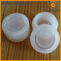 small new clear silicone customized bho oil container, slick silicone oil container