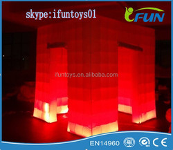 Hot sale night party inflatable lighting photo tent /inflatable photo booth tent /LED light inflatable -booth tent
