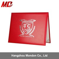 Wholesale Cheap A4 Leather Certificate Folder with Logo