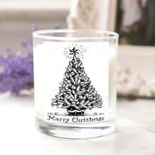 Diseño de la navidad frasco de vidrio Flavor velas, aromático velas, citronela día de san valentín vela