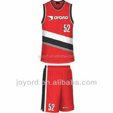 students basketball suit red sports wear suit