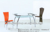 tempered glass fashion simple cheap new modern hot sell Dining Room Table,Dinner Table MDT-275