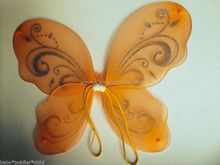 New arrival cute style butterfly wings wholesale for ladies girls decoration WG2018