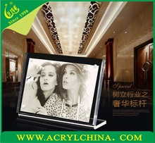 6x8 acrylic photo frame gift, acrylic picture frame crafts, crafts magnet acrylic framee holder stand display