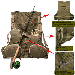 New Fly Fishing Vest Fishing Pack Outdoor Handy Adjustable Vest