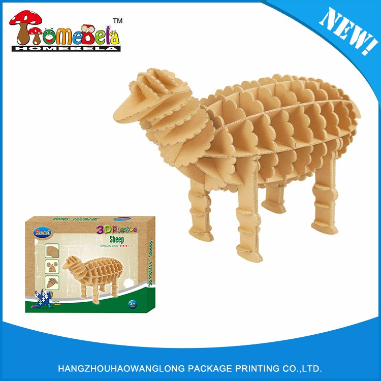 Buena calidad se venden bien edificio modelo de papel <span class=keywords><strong>3d</strong></span> del juguete del rompecabezas de cartón