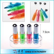 2015 classic colorful mini highlighter pen set