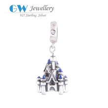Castle charm gifts,silver beads for sale,silver jewelry charms
