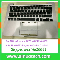 Arabic Laptop Keyboard with Case For MBook pro A1278 A1286 A1369 A1398 A1425 A1502 A1466 US keyboard With C Shell