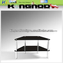 base in acciaio inox porta tv in vetro temperato