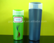 200ml 400mlfancy plastic HDPE body wash bottle, shower guard/gel bottles with screen printing for personal care