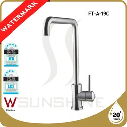 FT-A-19C Modern design stainless steel Kitchen cabinet faucet Lead free Kitchen mixer