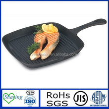 Press Aluminum Die Casting Non-stick Square cookware grill/fry pan with bakelite handle