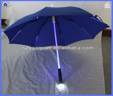 "23""x8k manual open straight umbrella with led light"