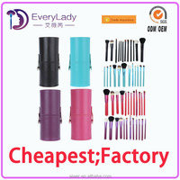 EveryLady animal hair makeup brushes with cup holder