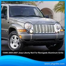 Piezas de automóviles accesorios de aluminio pulido auto delantero parrillas para Jeep Liberty reemplazo
