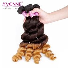grade 5A peruvian loose wave 100% human ombre hair braiding hair