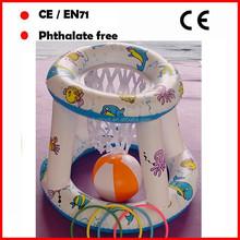 Inflatable Basketball Hoop and ball set Floating