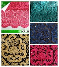 2015 african french lace fabric material latest designs all type color african lace fabrics/wedding dress/swiss lace