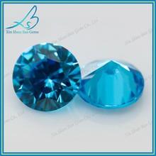 Synthetic diamond cut aquamarine CZ stones