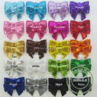 """IN STOCK 1.8"""" mini Sequin Bows With Alligator Clip Baby Girls' Hair Accessories Boutique Sequin Bow"""
