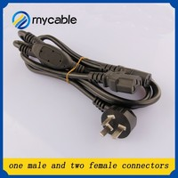 magnetic power cord Dual IEC Power Cable Power Cord is a Y cable with one 3-prong male and two IEC female connectors