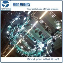Yota arch,circle,curved truss ,hanging lights from ceilings