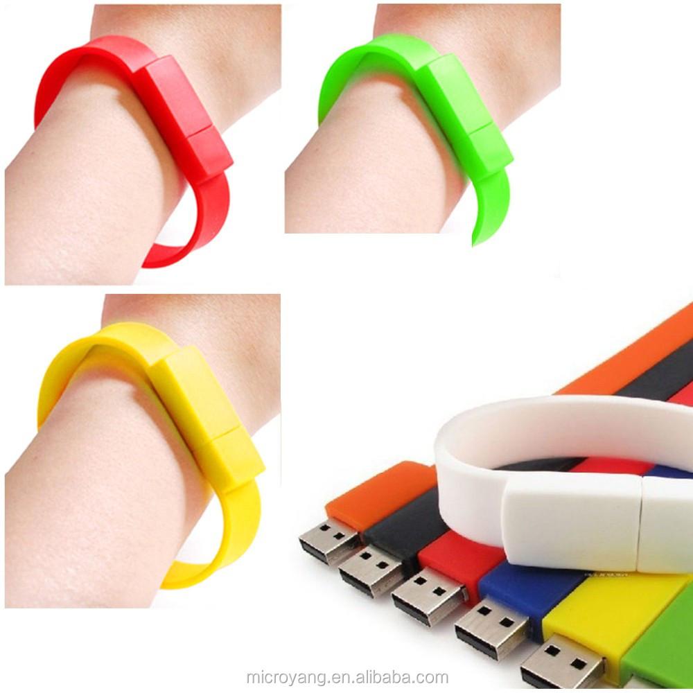 Silicon Wristband Wrist Band USB2.0 Memory Stick Flash Pen Drive 32GB Black