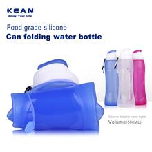 China supplier cheap custom logo novelty foldable silicone infused drinking bottle