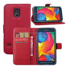 Cheap Price For Samsung Galaxy S5 Case, Wallet PU Leather Flip Cover Case For Samsung Galaxy S5 Sport G860P