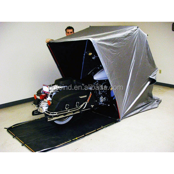 Outdoor motorcycle shelter foldable motorcycle home - Motorcycle foldable garage tent cover ...