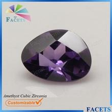 Facets Gems Trillion Cut Amethyst CZ Cubic Zirconia Wholesale Synthetic Amethyst Prices
